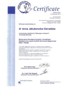 osteologia - certyfikat specjalisty stomatologa Medicodent Kielce