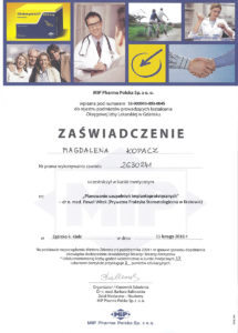 planowanie uzupełnień implantoprotetycznych - zaświadczenie specjalisty stomatologa Medicodent Kielce