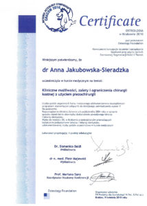 chirurgia stomatologiczna - certyfikat specjalisty stomatologa Medicodent Kielce