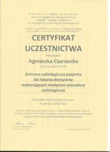ochrona radiologiczna pacjenta dla lekarzy dentystów gabinety stomatologiczne Medicodent Kielce