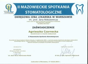 doskonalenie zawodowe lekarzy dentystów gabinetów Medicodent Kielce