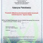 endodoncja - certyfikat specjalisty stomatologa Medicodent Kielce