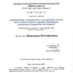 złamania koron zębów - certyfikat specjalisty stomatologa Medicodent Kielce
